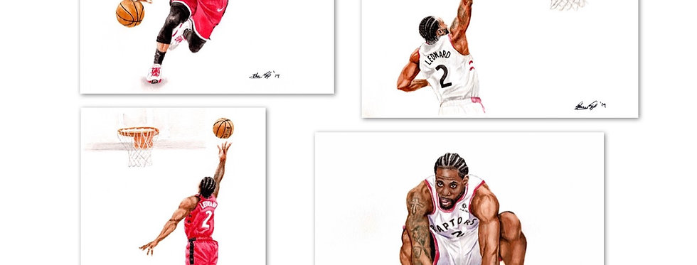 Toronto Raptor Set - 4 Prints