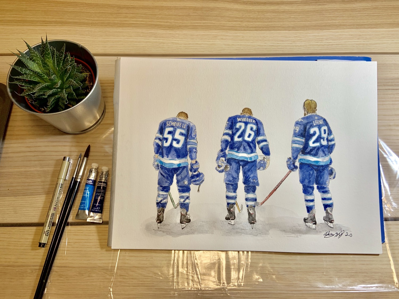 Thumbnail: Winnipeg Jets Line - Print