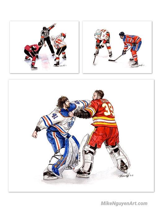 Calgary Flames Set - 3 Prints