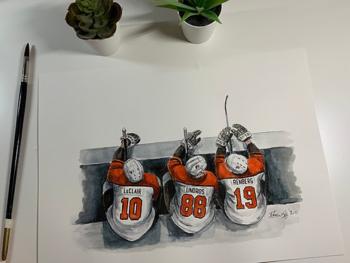 Philadelphia Flyers, Legion of Doom Lineup  - Print
