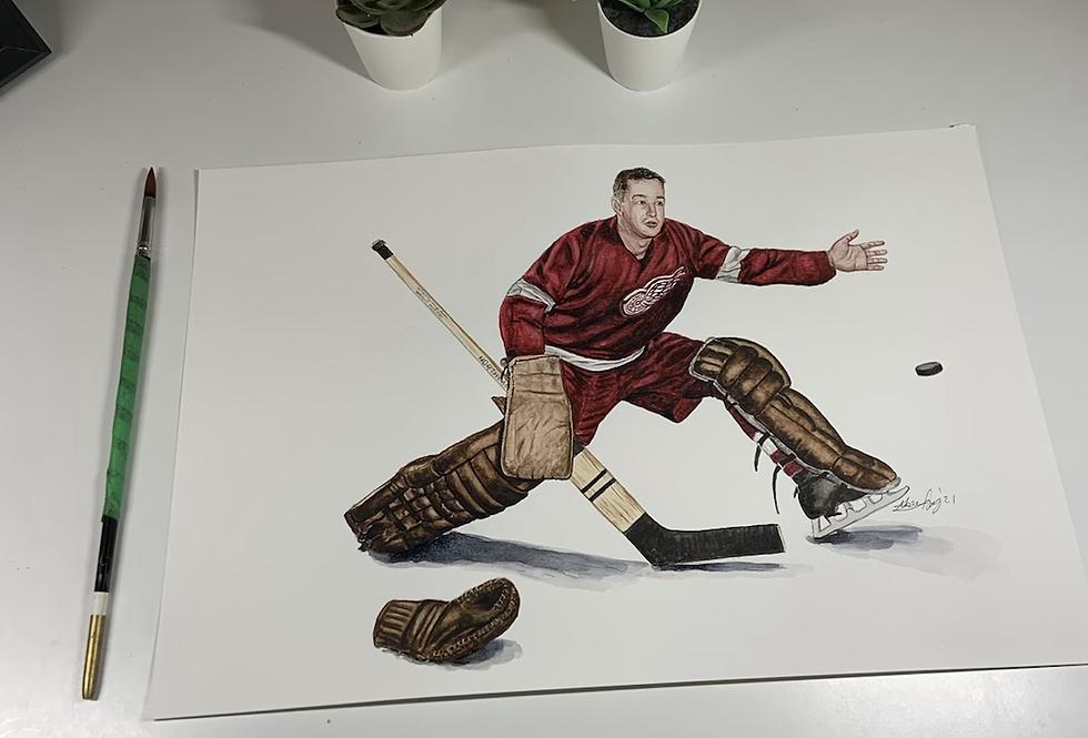 """""""Mr Goalie"""" Glenn Hall - Print"""