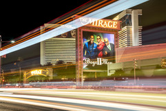 2018 The Mirage Light Trails