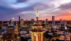2020 Goddess of Liberty over Downtown