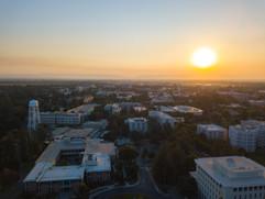 2017 Sunset over UC Davis Campus