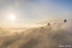 2019 Downtown ATX Poking through Fog Blanket