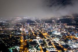 2020 Southern View of North Austin from Bottom Edge of Fog Blanket