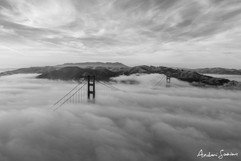 2019 Golden Gate Above Fog B&W