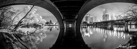 2019 Under Lamar St. Bridge B&W