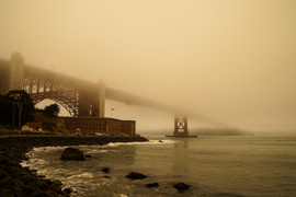 2018 Fort Point during the Fires in June