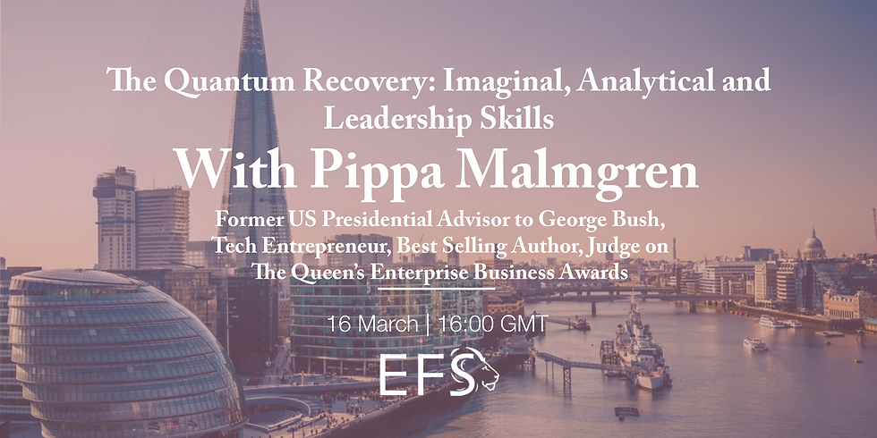 'The Quantum Recovery: Imaginal, Analytical and Leadership Skills' - Pippa Malmgren