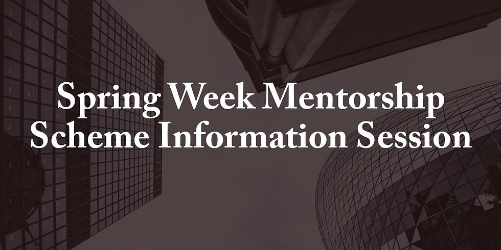 Spring Week Mentorship Scheme Information Session