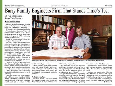 JBA featured in OC Business Journal