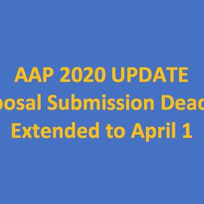 AAP 2020 Proposal Deadline EXTENDED
