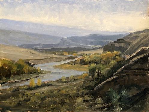 "Green River below Split Rock (16"" x 12"")"