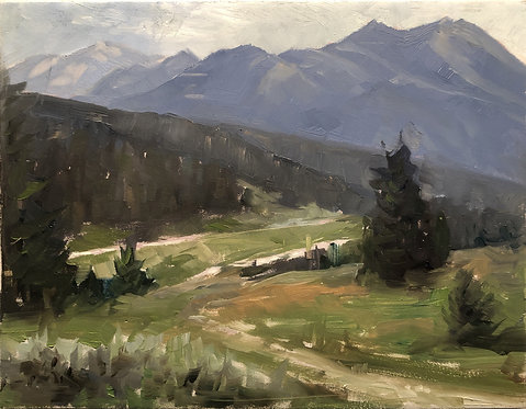 "Rainbow Ranch Morning (9"" x 7"")"