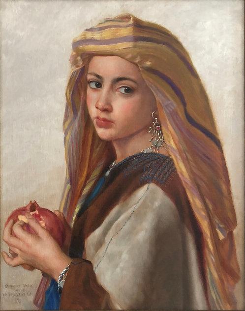 "L'Orientale a la grenade (Eastern Girl with a Pomegranate) - 19-1/2""x24-1/2"""