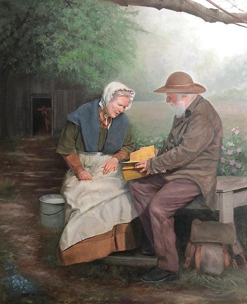 Mary Whitmer and Moroni