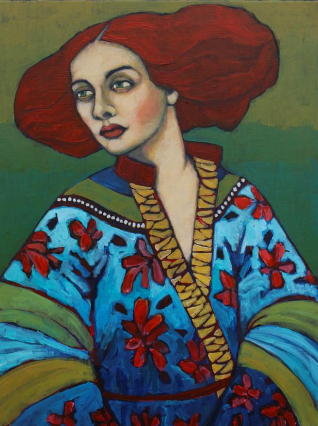 Woman In Kimoni