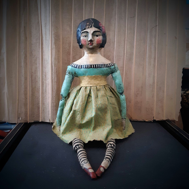 Rachel OOAK Cloth and Clay Art Doll