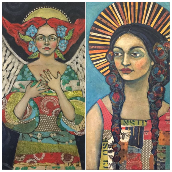 Mixed Media Angels and Saints on eBay Now!