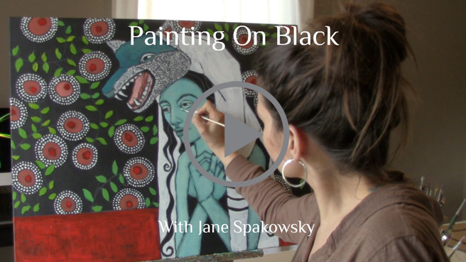 Painting On Black Demonstration Is Ready!