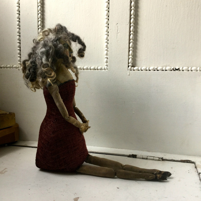 OOAK Primitive Crone Doll