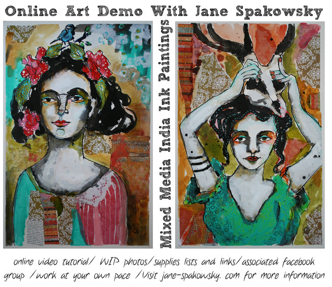 Mixed Media India Ink Paintings
