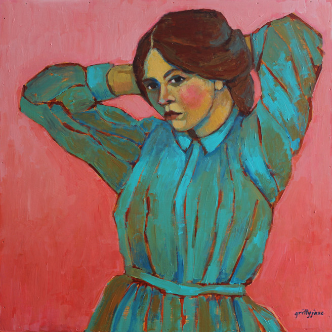 Portrait of Woman Fixing Her Hair