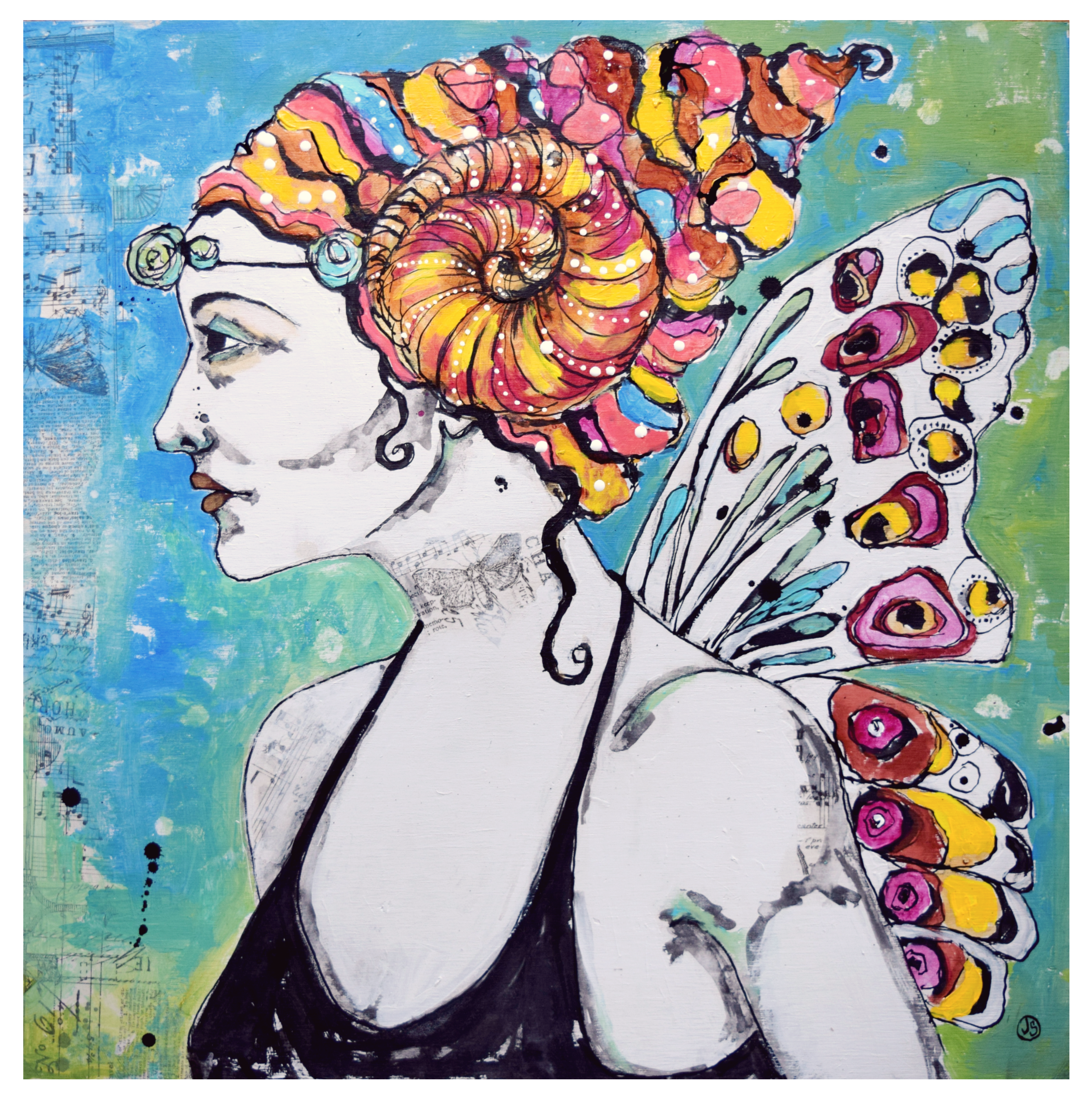 Blend Madame Butterfly Small Print