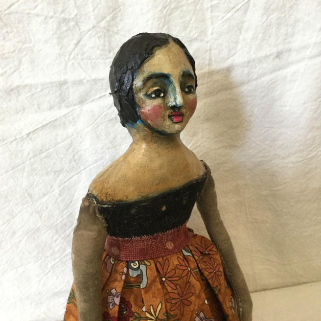 OOAK Cloth and Clay Art Doll