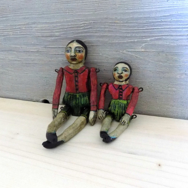 One Of A Kind Mother And Child Art Dolls