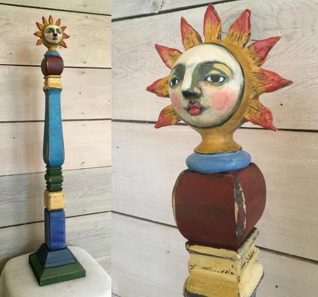 Tall Sunflower Post Doll 2