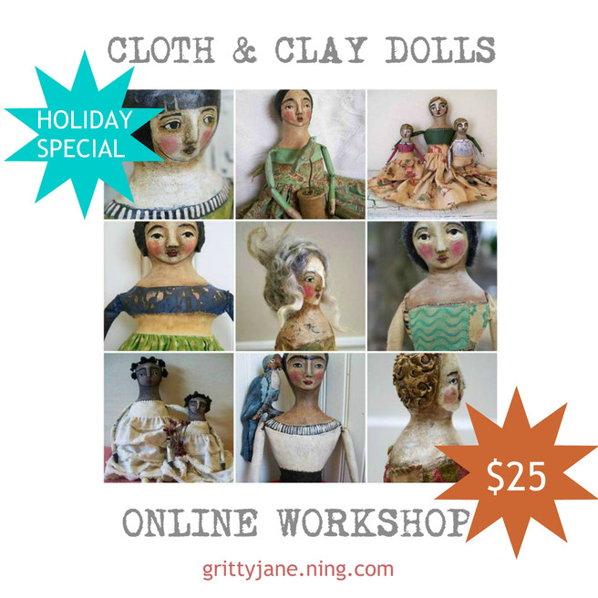 Cloth and Clay Art Doll Lesson Holiday Special