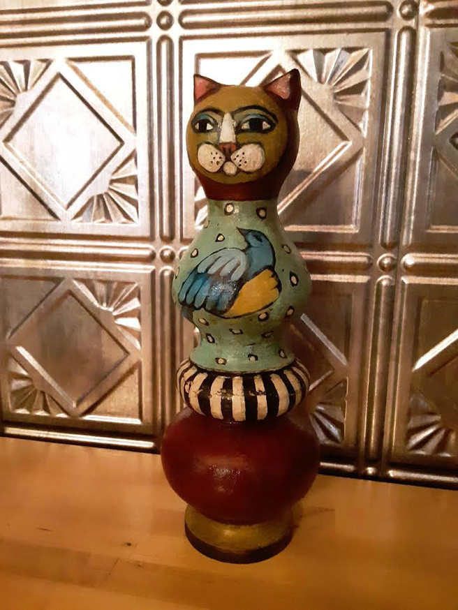 Din-Din The Folk Art Cat