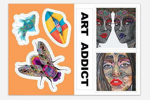 ART ADDICT sticker sheet