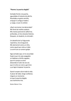 Poema Serie DoorLuz