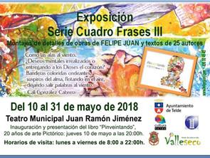 """Exposición Serie CuadroFrases III y Libro """"Pinveintando"""" en Telde · 10 al 31 de mayo."""