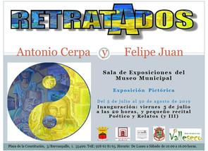 """Proyecto Multidisciplinar: """"RETRATADOS"""" · Serie 2018 · Antonio Cerpa y Felipe Juan · Museo"""