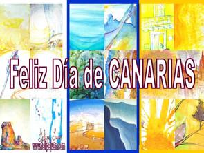 Cartel del Día de Canarias · FELICIDADES