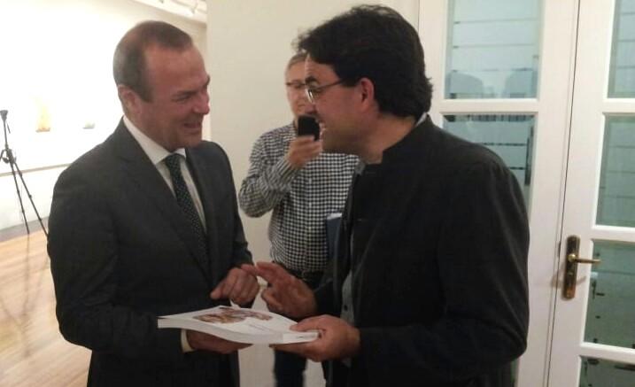 Junto al Alcalde la Ciudad de Las Palmas