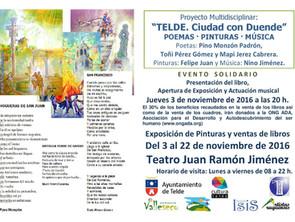 """Exposición dedicada a Telde · Poemario: """"Telde, Ciudad con Duende"""""""