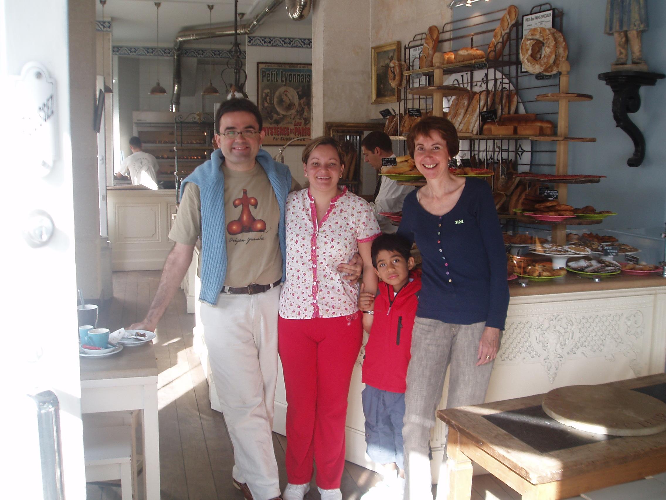 Con Laura Jacquemet, Gustavo y Cali
