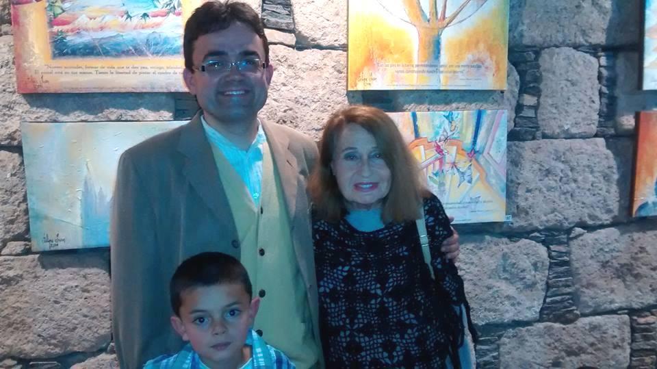 Con Yolanada Graziani y Amado