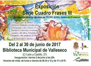 Serie Cuadrofrases (III) en la Biblioteca de Valleseco (2 al 30 de junio)