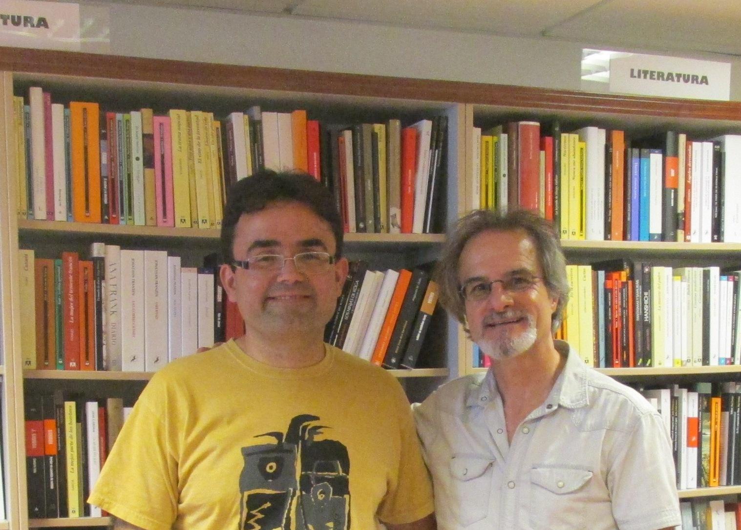 Con Escritor Agustín Carlos Barruzu