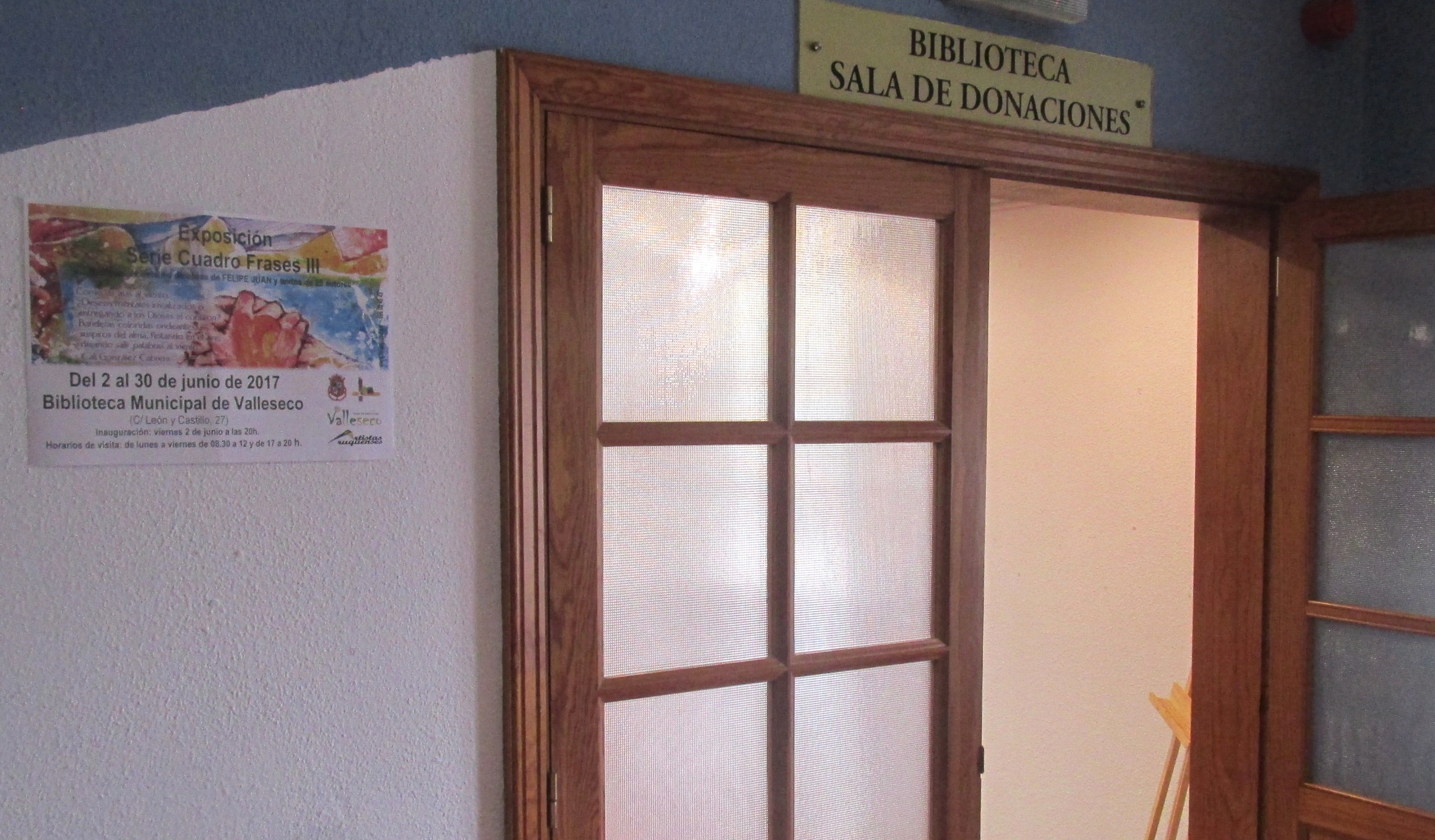 Sala Exposiciones Biblioteca.