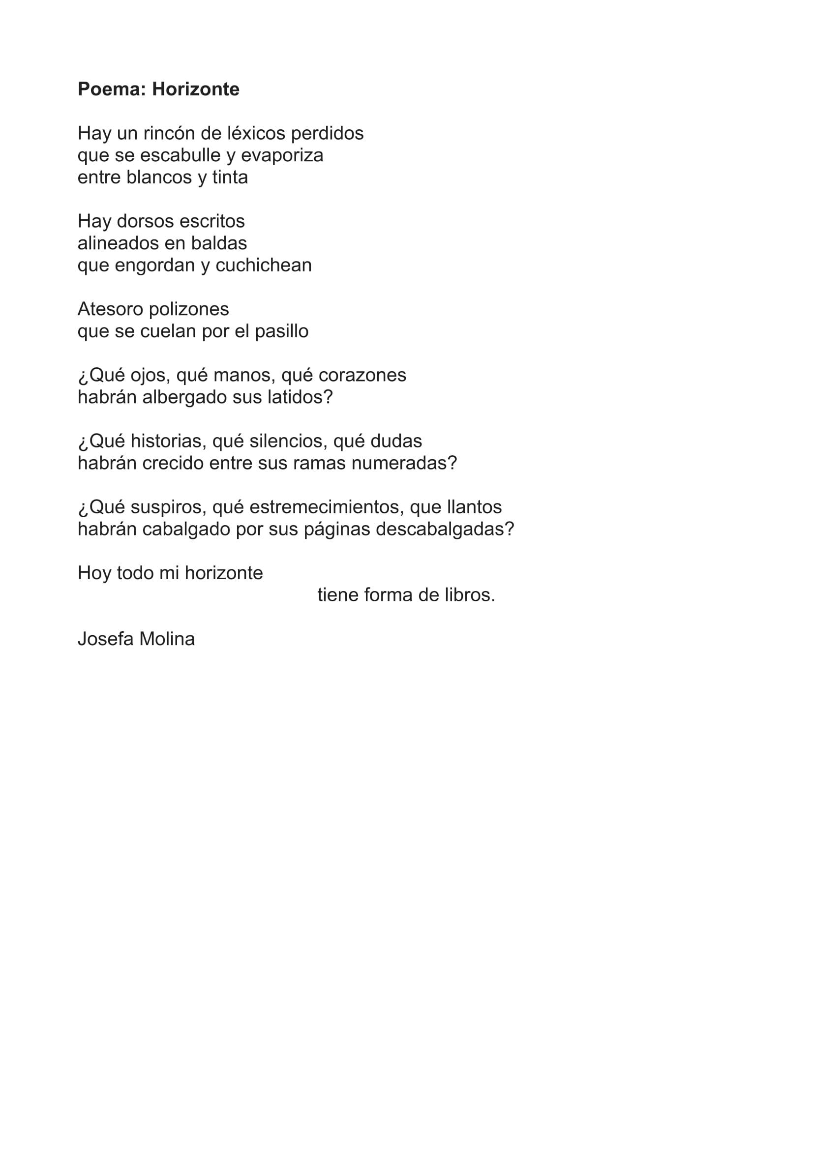 Poema Serie HorizontLuz