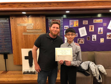 2019 NW Guitar Festival Winners - Solomon Guitar Studio student Derek Choi and teacher Brandon Azbil