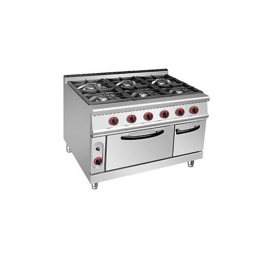FGS 96GO 6-Burner Gas Range with Gas Oven