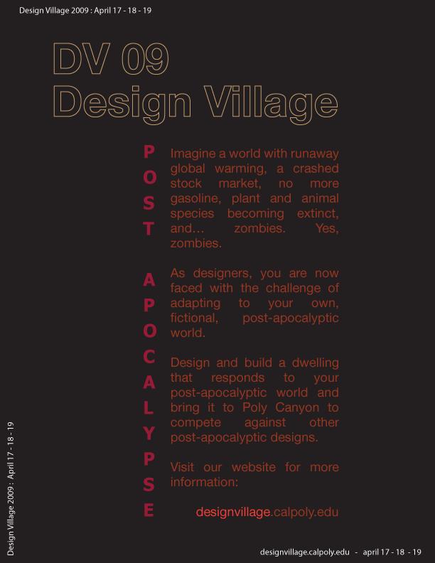2009 Post Apocalypse Poster